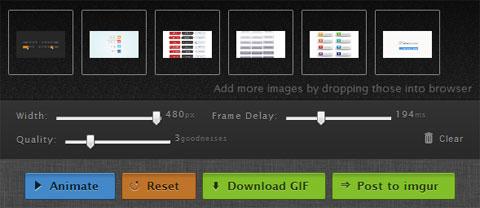 Веб-приложение с открытым исходным кодом для построения GIF-анимации в режиме онлайн