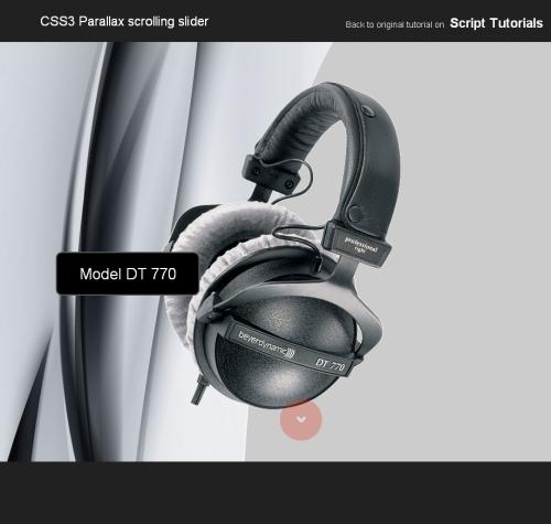 Слайдер с параллакс-скроллингом на CSS3