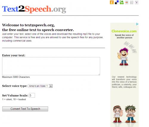 Situs untuk Mengubah Tulisan menjadi Suara (MP3)