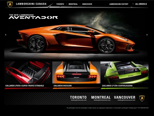 Автомобильные веб-сайты для вдохновения
