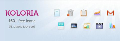 Koloria: более 160 сверхчетких бесплатных иконок