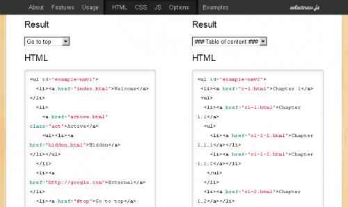 SelectNav.js – Выпадающее меню навигации для мобильных разметок средствами адаптивного веб-дизайна