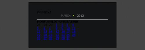 Разрабатываем календарь с помощью jQuery и CSS3