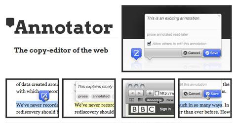 JavaScript-библиотека для совместного комментирования веб-документов: Annotator