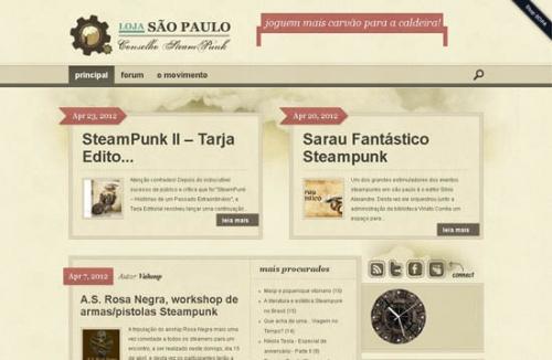 Подборка уникальных веб-дизайнов и ресурсов в стиле стимпанк