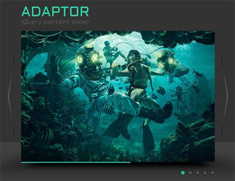 Adaptor: слайдер изображений с 3D-переходами на jQuery