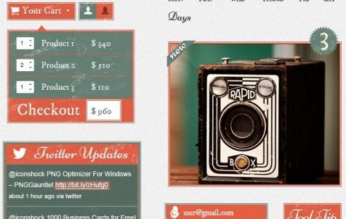 Retro Vintage GUI