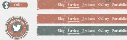 Набор элементов интерфейса в стиле ретро-винтажа: Retro Vintage GUI