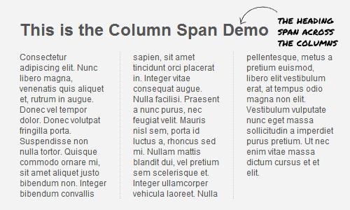 Разметка в несколько столбцов (журнальная разметка) на CSS3