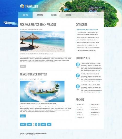 Украсьте свой Joomla-сайт при помощи бесплатного шаблона!