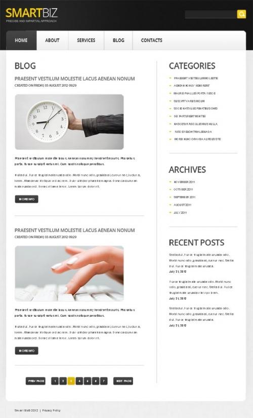 Бесплатный бизнес-шаблон для Joomla – быстрый старт собственного проекта