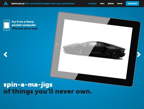 Lenticular.js: изображения реагируют на наклоны