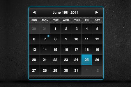Календарь в PSD-формате