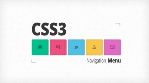 Выпадающее анимированное меню навигации на CSS3