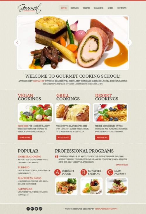 Бесплатная суббота: «вкусный» шаблон для кулинарного сайта