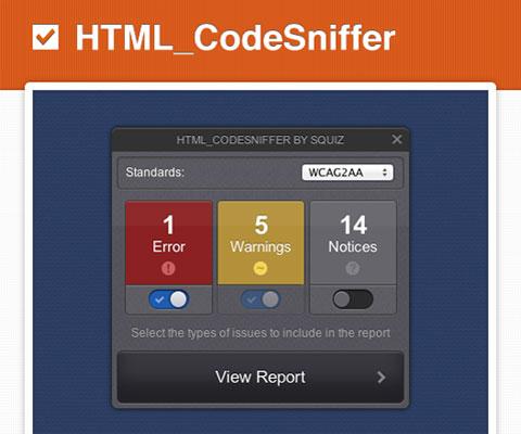 HTML_CodeSniffer: проверка любого HTML-кода на соответствие веб-стандартам