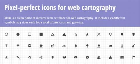 Maki: бесплатный набор иконок достопримечательностей