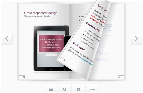 Шаблон презентации книга с эффектом листания скачать бесплатно