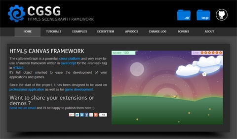 cgSceneGraph: ������ ����� ���������� �������� �� HTML5 Canvas