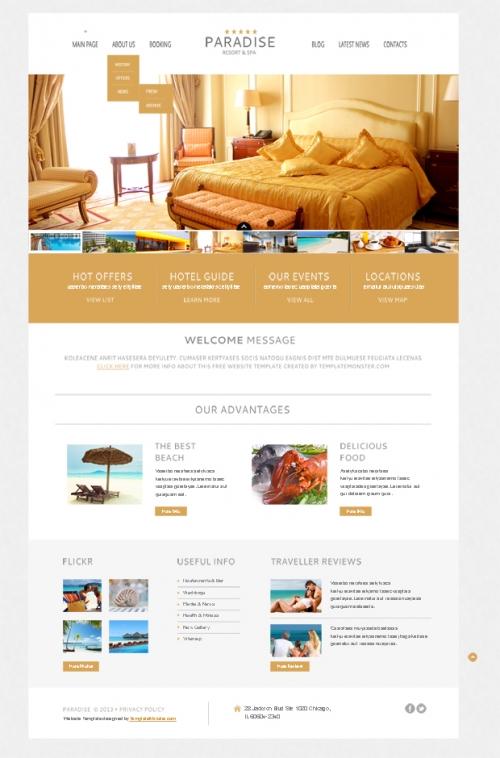 Теплое приветствие ваших гостей: бесплатный Wordpress-шаблон для сайта отеля