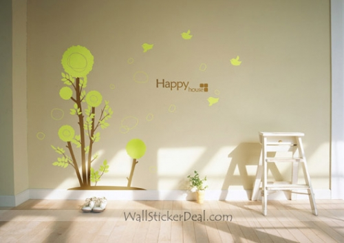 Real tree wall decals