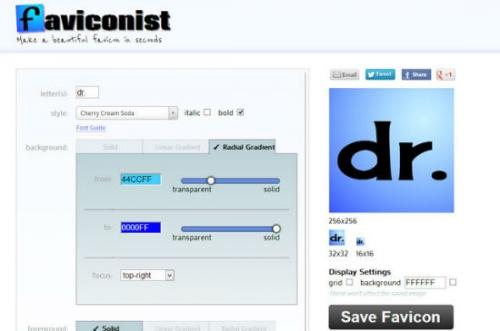 Онлайн-инструменты для создания favicon