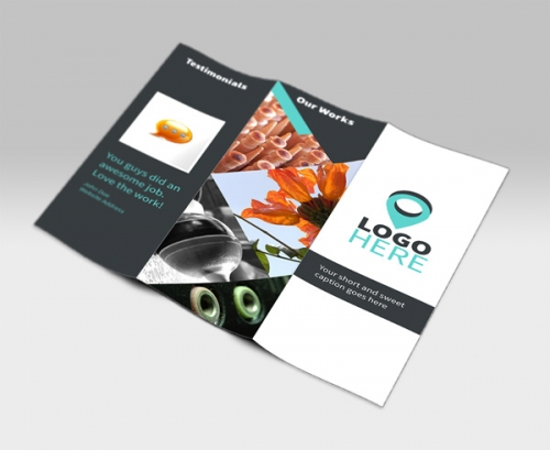 PSD-макет брошюры в две складки