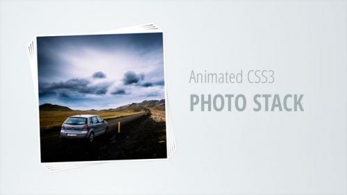 Анимированная стопка фотографий на CSS3