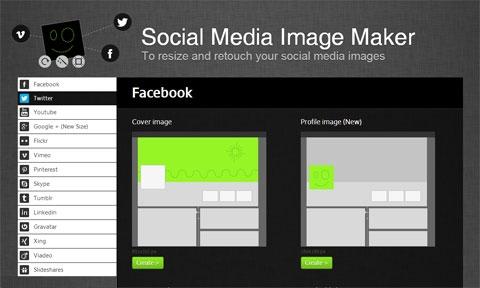 Веб-инструмент для масштабирования и ретуши изображений в социальных сетях