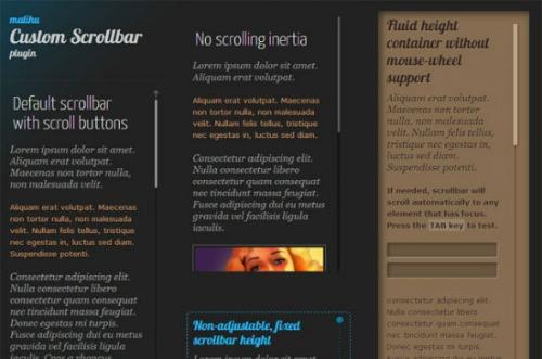 Оформление скроллинга - jQuery-плагин Custom Content Scroller