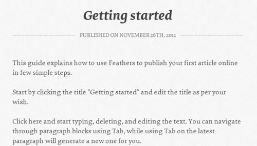 Feathers: возвращаемся к основам блоггинга