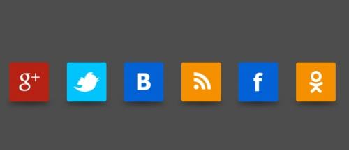 Psd квадратные кнопки русских соц. сетей