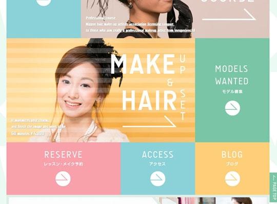 Flat дизайны пример сайта