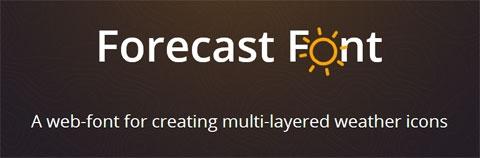 Forecast Font: веб-шрифт с погодными иконками
