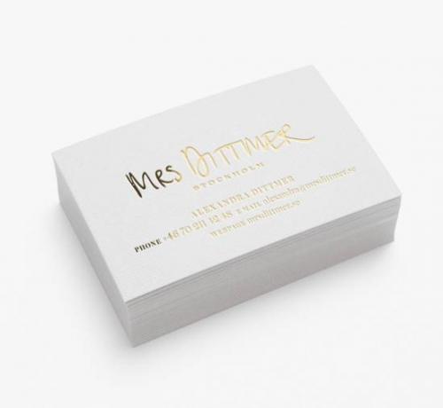 Дизайн простых визиток