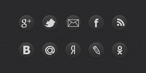 Иконки социальных сетей для сайта
