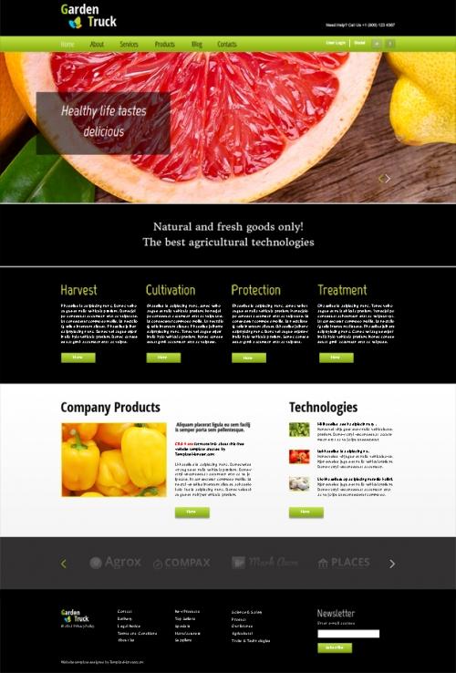 Бесплатный HTML5-шаблон агрономического направления с jQuery Fade Slider