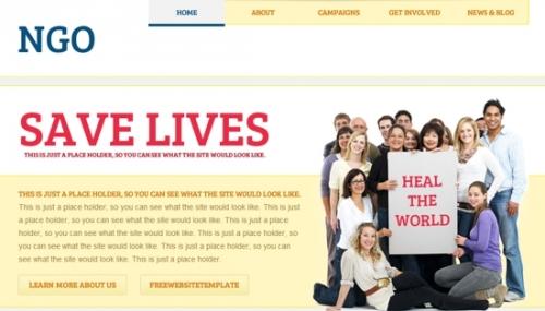 Бесплатный шаблон сайта