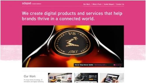 10 вдохновляющих примеров использования розовых тонов в веб-дизайне