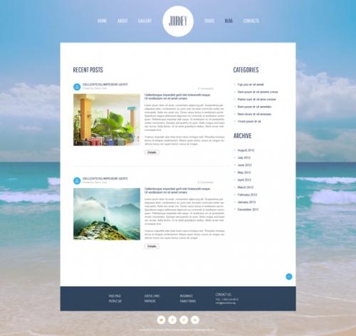 Новый бесплатный jQuery-шаблон на тему путешествий