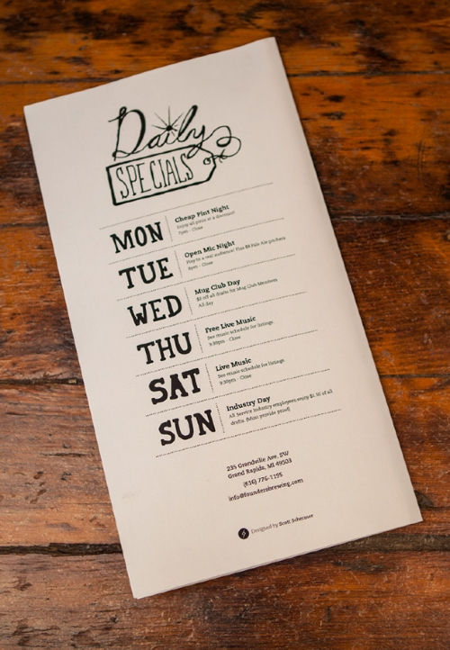 Father And Sons Restaurant Menu