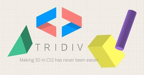 Tridiv: веб-редактор «трехмерных CSS-фигур»