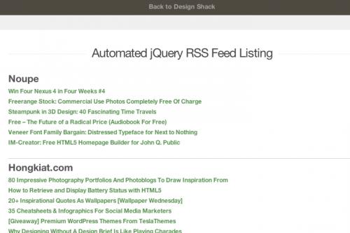 Создаем автоматизированную RSS-ленту при помощи jQuery