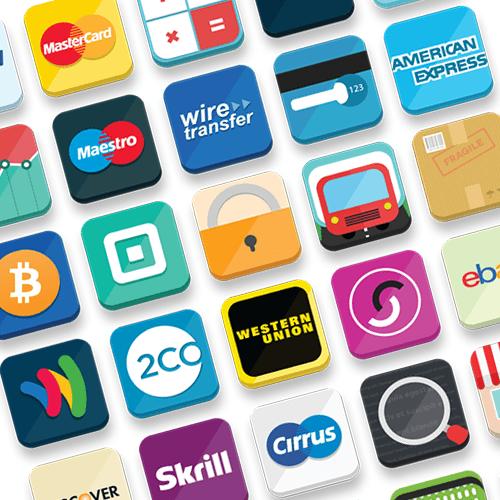 Бесплатности: набор иконок для интернет-магазина (33 иконки в PNG, PSD и AI)