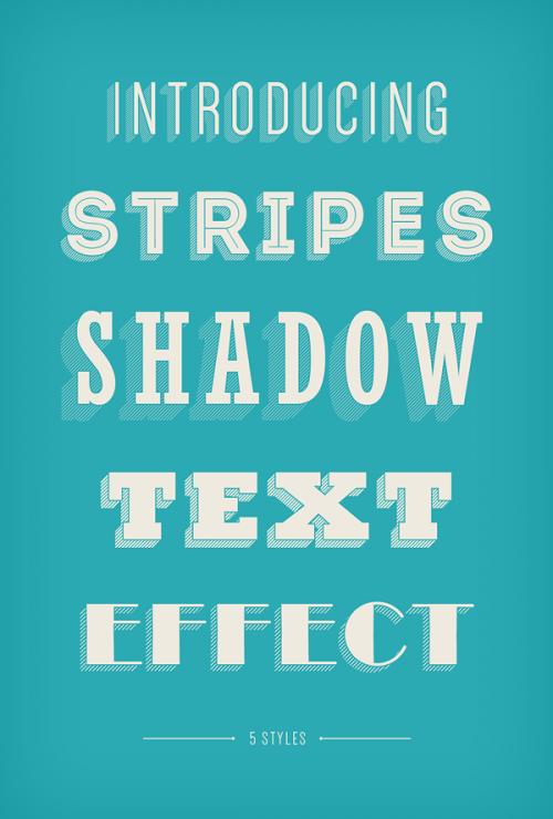 «Штрихованная» тень для шрифта