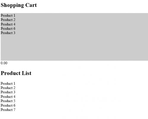 Применяем HTML5-интерфейс перетаскивания для создания корзины товаров