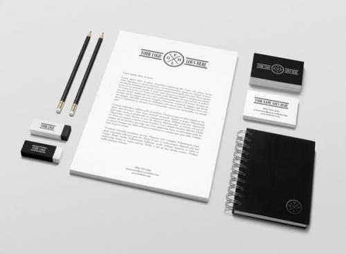Макет для оформления фирменной атрибутики/нанесения символики