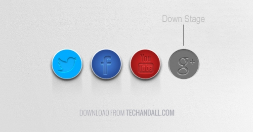 UI-кнопки социальных сетей в PSD-формате