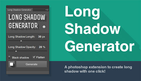 Long Shadows Generator: бесплатное Photoshop-расширение