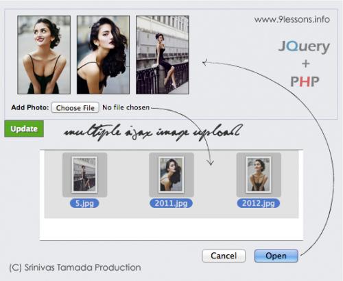 Выбор и загрузка нескольких изображений при помощи Ajax на jQuery